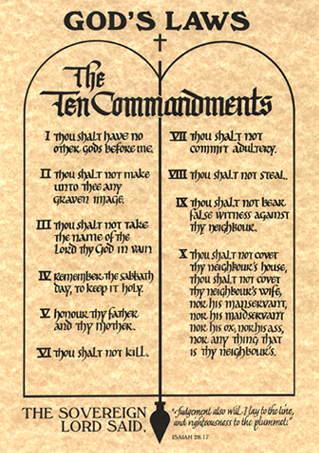 image about 10 Commandments Poster Printable known as 10 commandments venture
